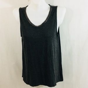 Rose & Olive Beaded Rayon Spandex Med Pull-on Top